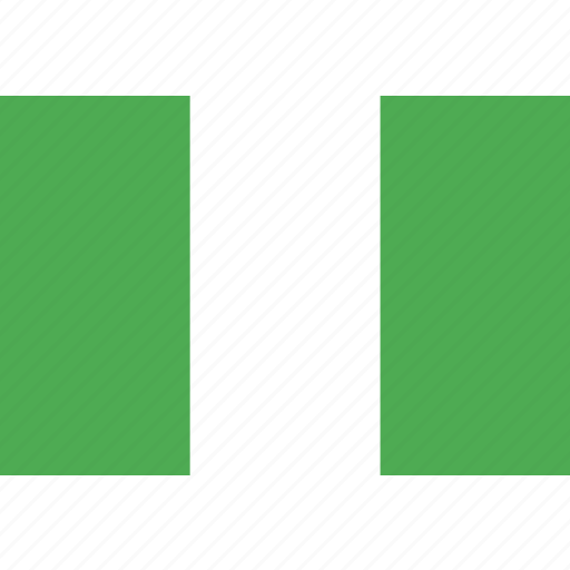 country, flag, nation, nigeria, world icon