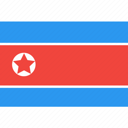country, flag, korea, nation, north, world icon