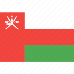 country, flag, nation, oman, world icon