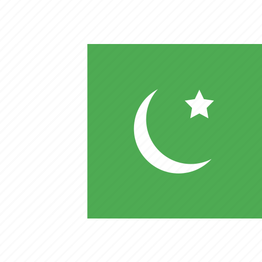 country, flag, nation, pakistan, world icon
