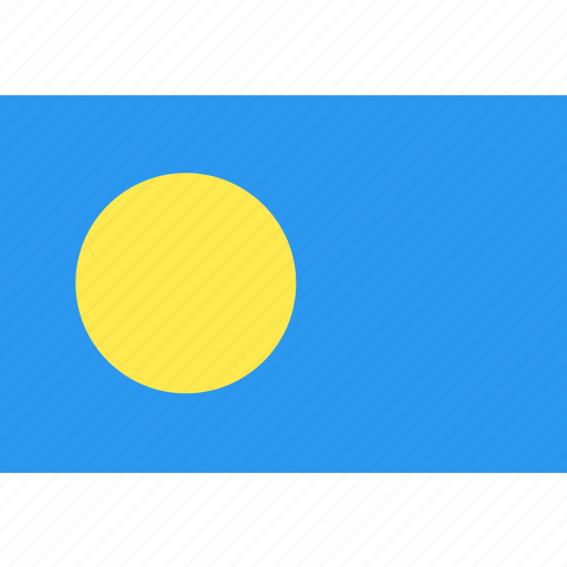 country, flag, nation, palau, world icon