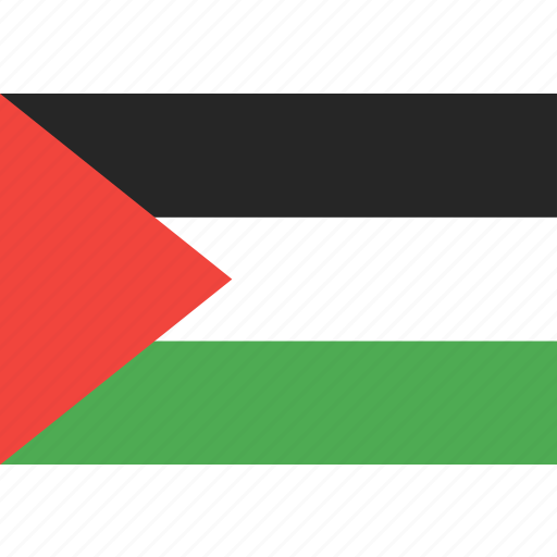country, flag, nation, palestine, world icon