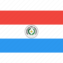 country, flag, nation, paraguay, world icon