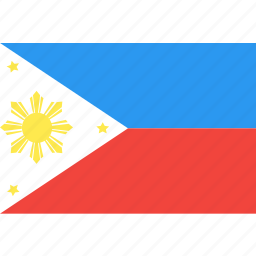 country, flag, nation, philippines, world icon