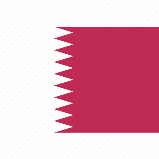 country, flag, nation, qatar, world icon