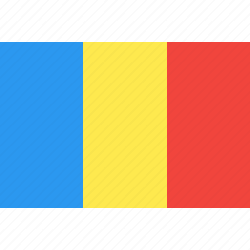 country, flag, nation, romania, world icon