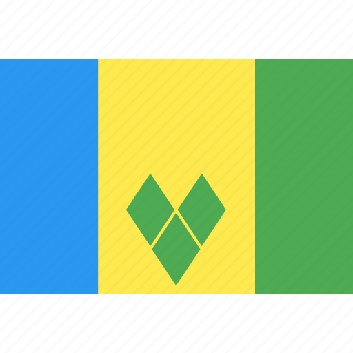country, flag, grenadines, nation, saint, vincent, world icon