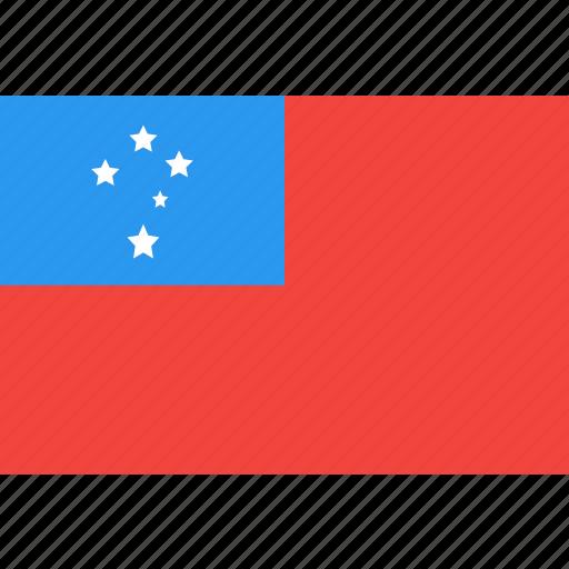 country, flag, nation, samoa, world icon