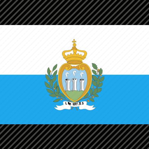 country, flag, marino, nation, san, world icon