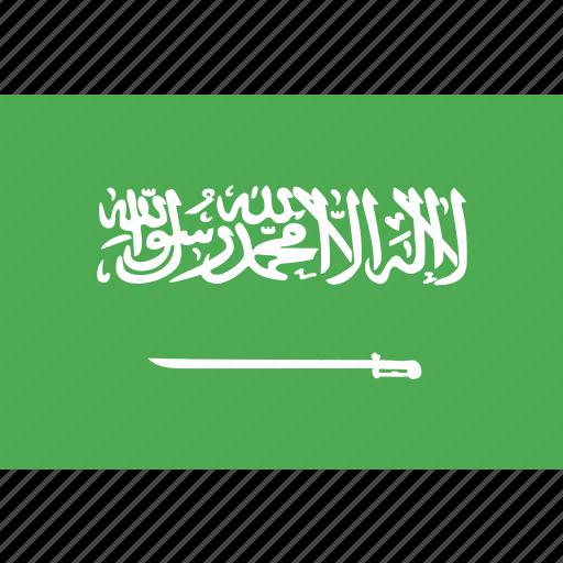 arabia, country, flag, nation, saudi, world icon
