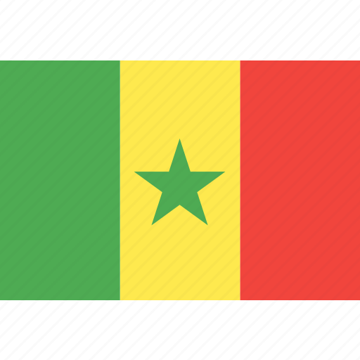 country, flag, nation, senegal, world icon