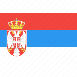country, flag, nation, serbia, world icon