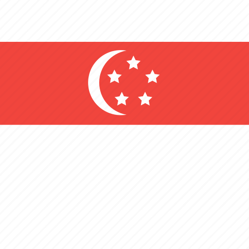country, flag, nation, singapore, world icon