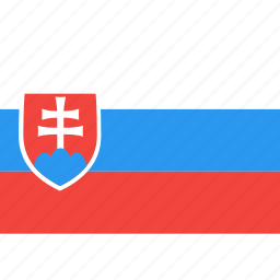 country, flag, nation, slovakia, world icon