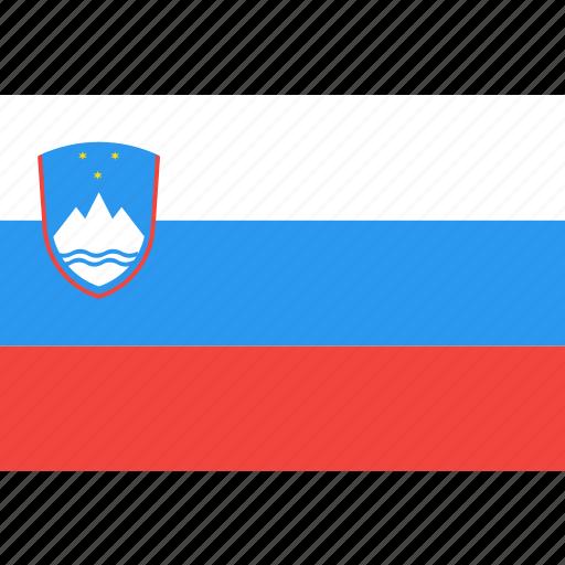 country, flag, nation, slovenia, world icon