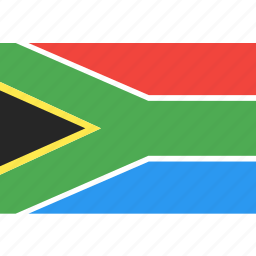 africa, country, flag, nation, south, world icon