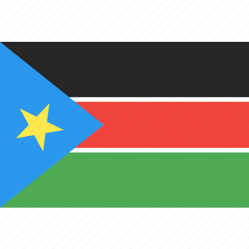 country, flag, nation, south, sudan, world icon