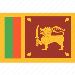 country, flag, lanka, nation, sri, world icon