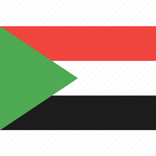 country, flag, nation, sudan, world icon