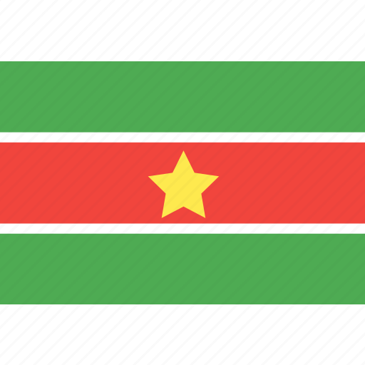 country, flag, nation, suriname, world icon
