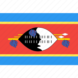 country, flag, nation, swaziland, world icon