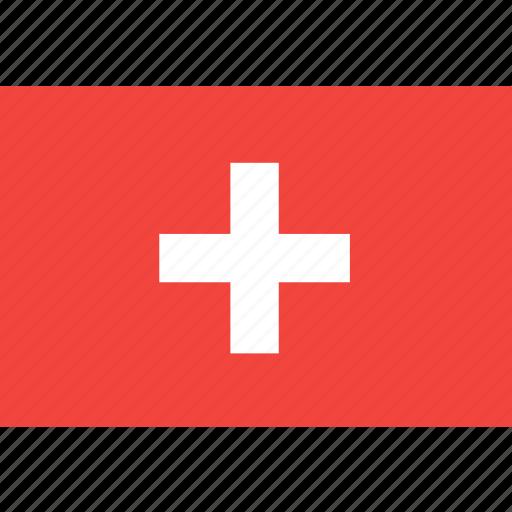country, flag, nation, switzeland, world icon