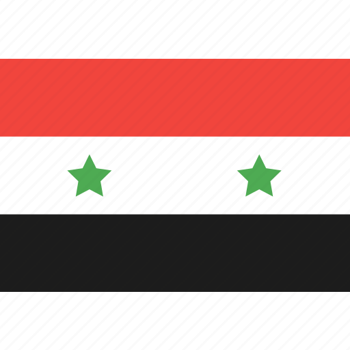 country, flag, nation, syria, world icon