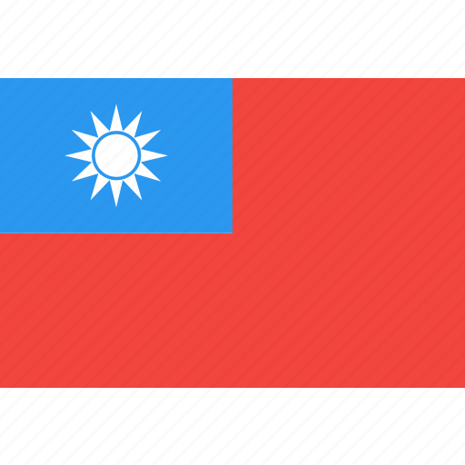 country, flag, nation, taiwan, world icon