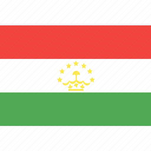 country, flag, nation, tajikistan, world icon