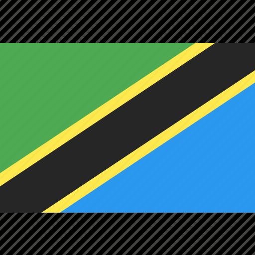 country, flag, nation, tanzania, world icon
