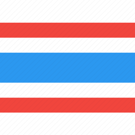 country, flag, nation, thailand, world icon
