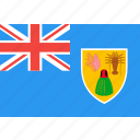 caicos, country, flag, islands, nation, turks, world icon