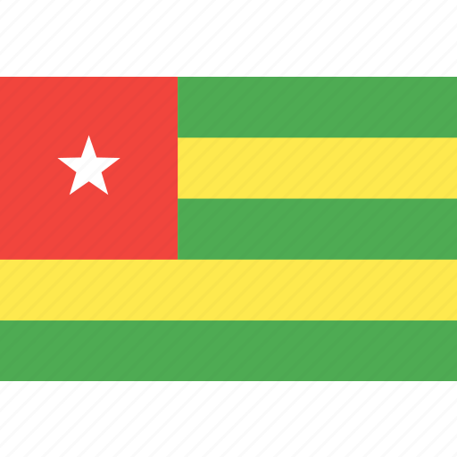 country, flag, nation, togo, world icon