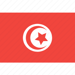country, flag, nation, tunisia, world icon