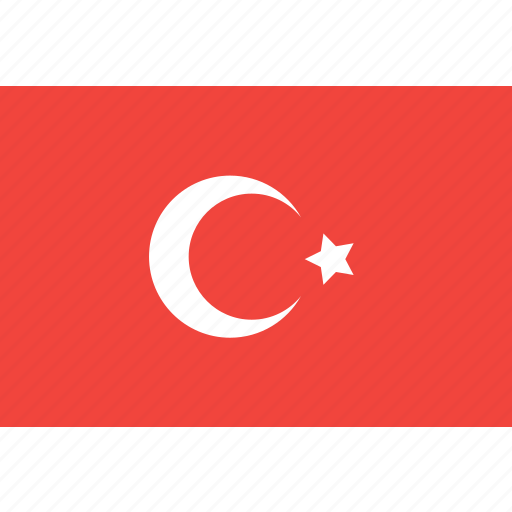 country, flag, nation, turkey, world icon