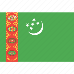 country, flag, nation, turkmenistan, world icon