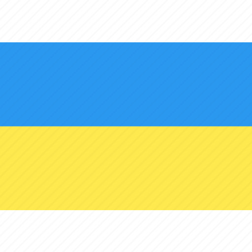 country, flag, nation, ukraine, world icon