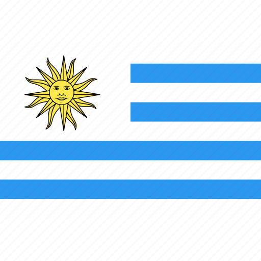 country, flag, nation, uruguay, world icon