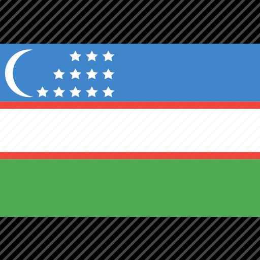 country, flag, nation, uzbekistan, world icon