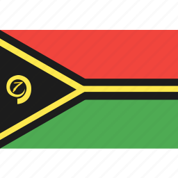 country, flag, nation, vanuatu, world icon