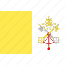 country, flag, nation, vatican, world icon