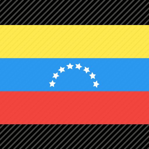 country, flag, nation, venezuela, world icon