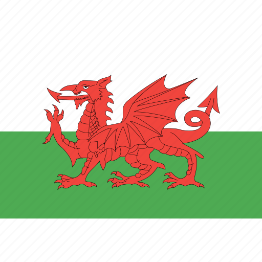 country, flag, nation, wales, world icon