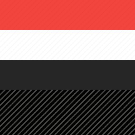 country, flag, nation, world, yemen icon