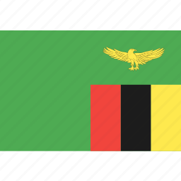 country, flag, nation, world, zambia icon