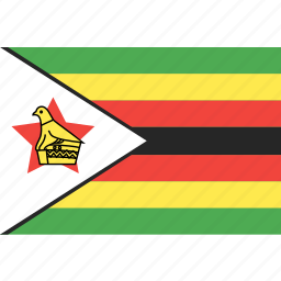 country, flag, nation, world, zimbabwe icon