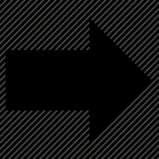 arow, arrow, arrows, direction, forward, right icon