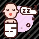 sleeping, mother, pregnancy, baby