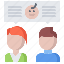 baby, discussion, gynecology, maternity, parents, pregnancy, talk icon