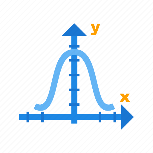 bell, chart, curve, distribution, graph, histogram, shape icon